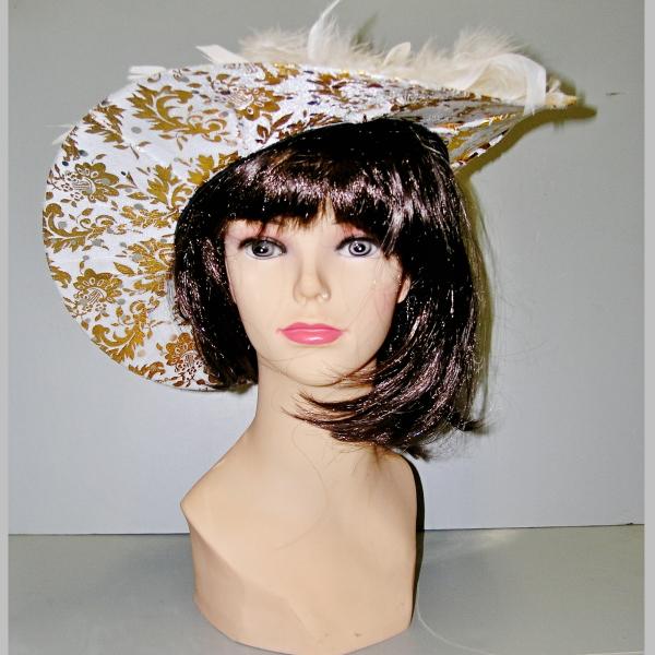 bílo-zlatý -klobouk,Ladana