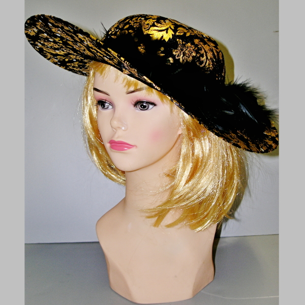 černo-zlatý-klobouk,Ladana