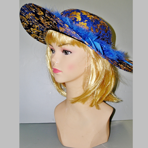 modro-zlatý-klobouk,Ladana