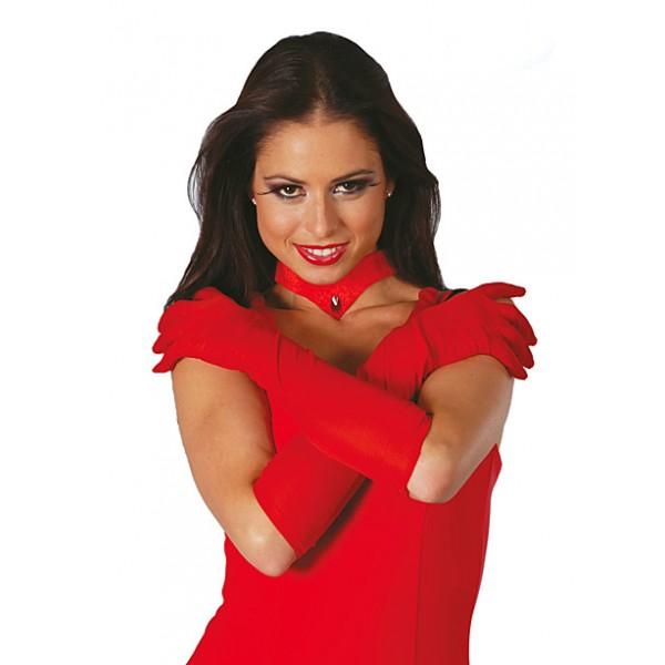 rukavice-dlouhe-cervene, Ladana