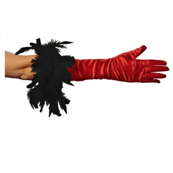rukavice-s-boa-cervene, Ladana