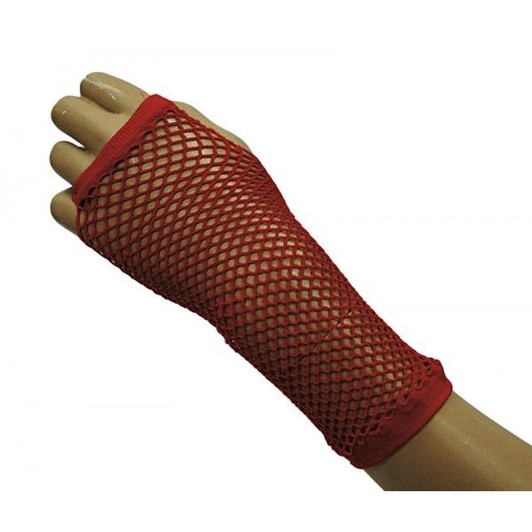 rukavice-sit-bezprste-cervene, Ladana