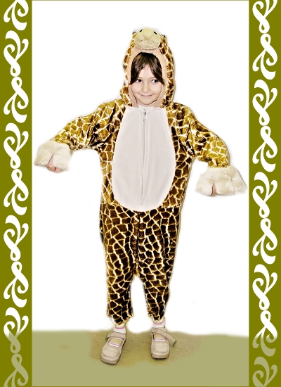 kostým žirafa, půjčovna maškarních kostýmů Praha, Ladana