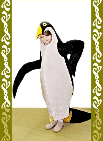 kostým tučńáka, karnevalové kostýmy Praha, Ladana