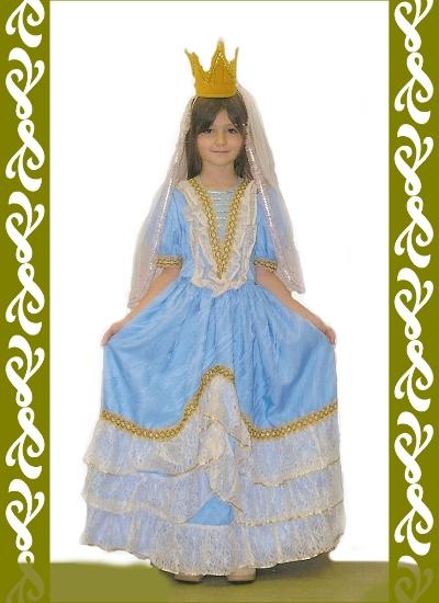 kostým princezna, půjčovna dětských karnevalových kostýmů Ladana