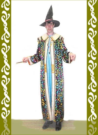 kostým čaroděj, půjčovna maškarních kostýmů Praha, Ladana