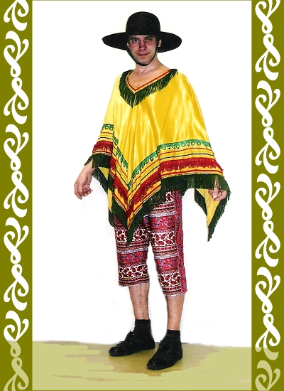 kostým Mexičan, půjčovna karnevalových kostýmů Praha Ladana