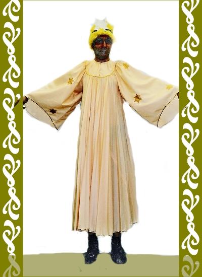 kostým anděl velký, půjčovna maškarních kostýmů Praha, Ladana