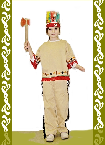 kostým indiána, půjčovna dětské maškarní Praha, Ladana