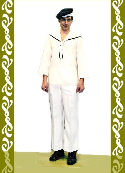 kostým námořník, půjčovna karnevalových kostýmů Praha Ladana