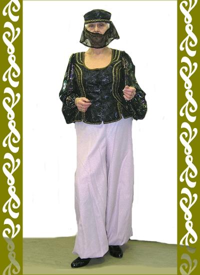 kostým orient, půjčovna maškarních kostýmů Praha, Ladana