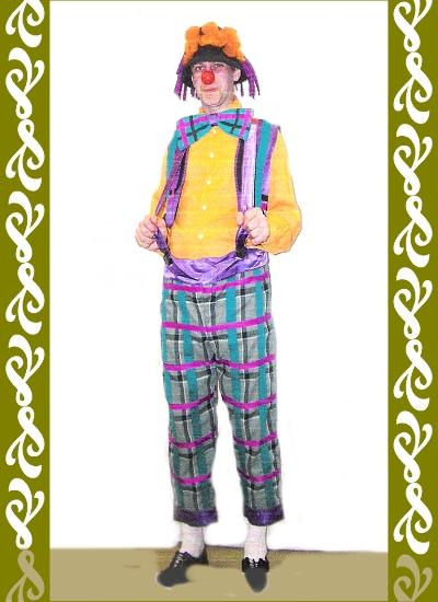 kostým veselý klaun, půjčovna karnevalových kostýmů Praha Ladana