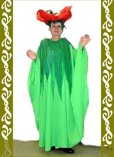 kostým vlčího máku, půjčovna karnevalových kostýmů Praha, Ladana