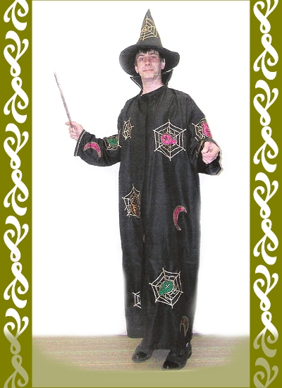 kostým čaroděj, půjčovna maškarních Ladana