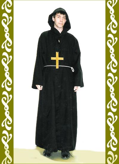 kostým černý mnich, půjčovna karnevalových kostýmů Praha Ladana