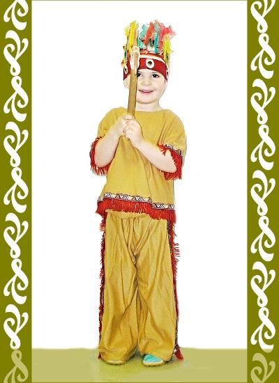 kostým indiána, půjčovna dětské maškarní kostýmx Praha, Ladana