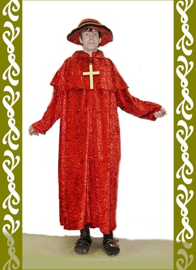 kostým kardinál, půjčovna kostýmů Praha, Ladana