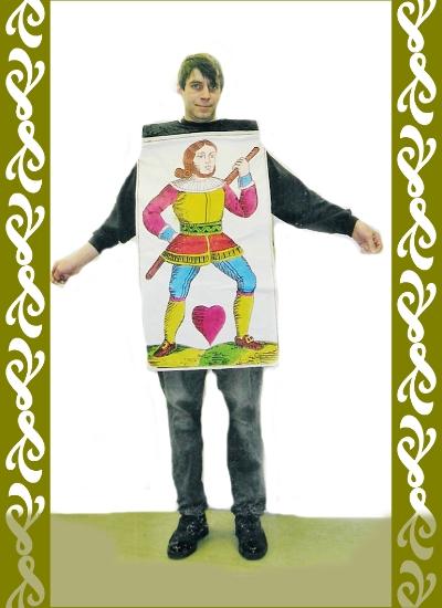 kostým karta, půjčovna karnevalových kostýmů Praha Ladana
