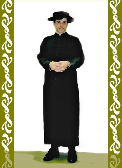 kostým kněze, půjčovna karnevalových kostýmů Praha, Ladana