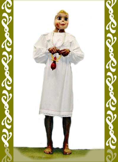 kostým mimino, půjčovna karnevalových kostýmů Praha Ladana