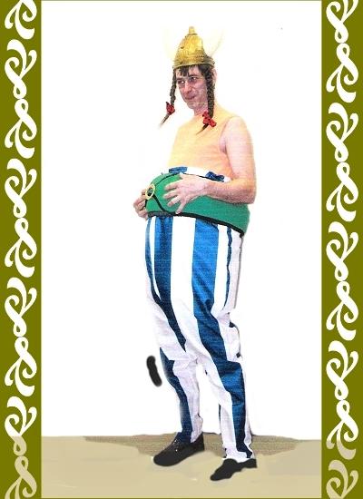kostým Obelix, půjčovna karnevalových kostýmyů Ladana Praha
