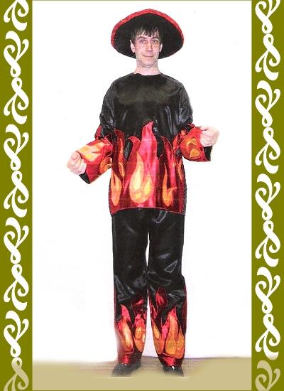 kostým ohnivec, půjčovna karnevalových kostýmů Praha Ladana