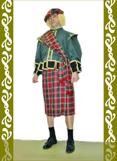 kostým skotský, půjčovna karnevalových kostýmů Praha, Ladana