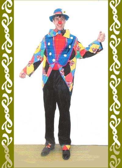kostým klaun, půjčovna karnevalových kostýmů Praha Ladana