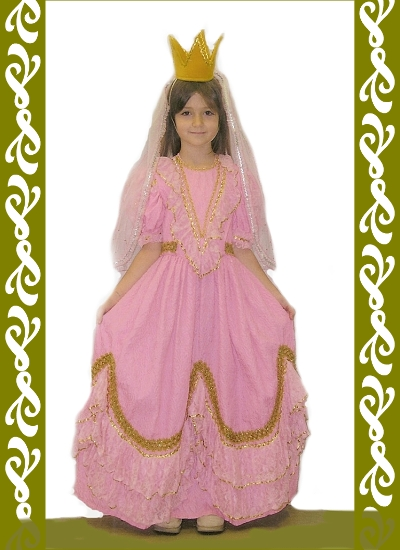 kostým princezna, půjčovna karnevalových kostýmů Praha, Ladana