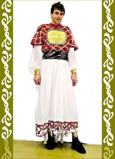 kostým Byzanc, historické kostýmy půjčovna Ladana