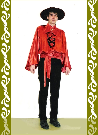 kostým Španěla, půjčovna karnevalové kostýmů Ladana