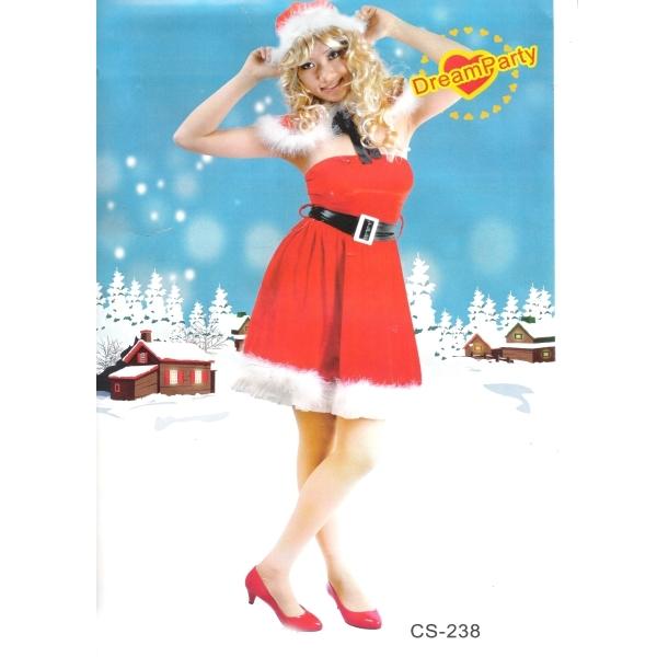 kostým Santa Claus dámský, Ladana