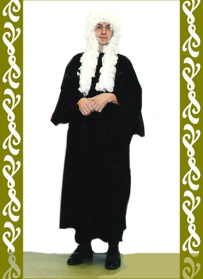 kostým soudce, půjčovna historické kostýmy Ladana