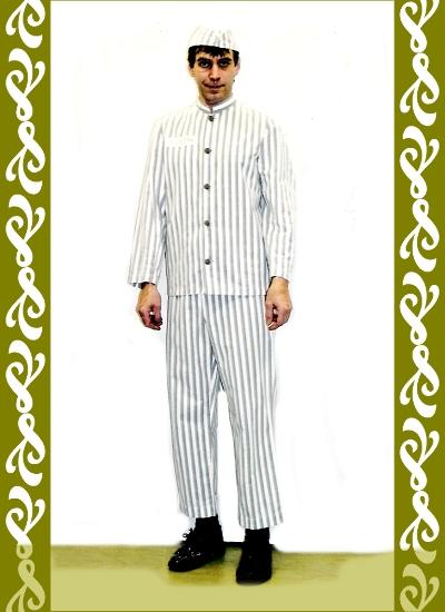 kostým vězeň, půjčovna karnevalových kostýmů Ladana