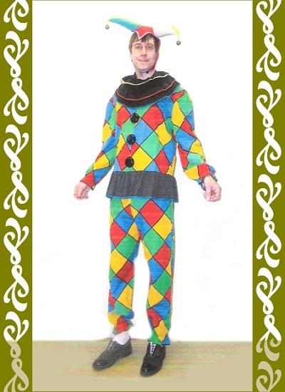 kostým veselý Kašpara, půjčovna maškarní kostýmy Ladana